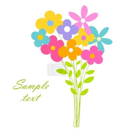 Illustration pour Joli bouquet de fleurs. illustration vectorielle - image libre de droit