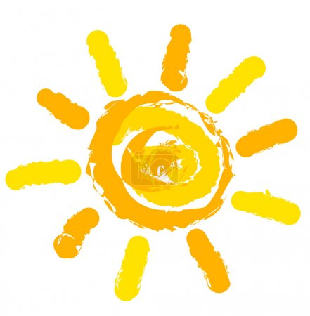 Illustration for Sun symbol illustration - Royalty Free Image