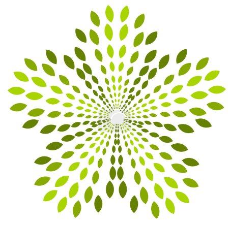 emblème abstrait vert