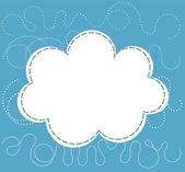Cloud over blue sky Vector illustration