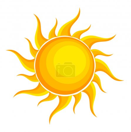 Illustration for Sun. Vector illustration - Royalty Free Image