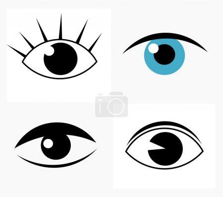 Illustration pour Des yeux abstraits symboliques. Illustration vectorielle - image libre de droit