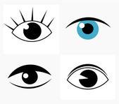 Symbolic abstract eyes Vector illustration