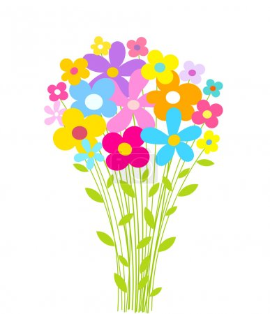 Illustration for Flowers bouquet. Vector illustration - Royalty Free Image