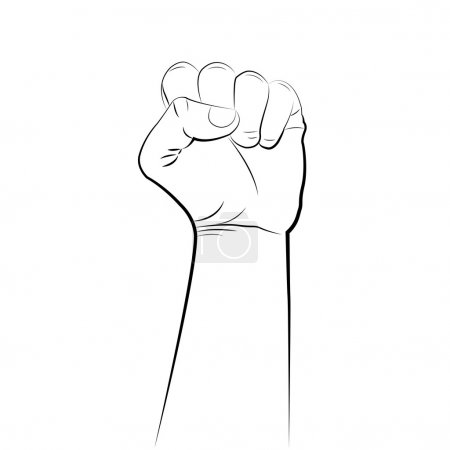Male clenched fist hand