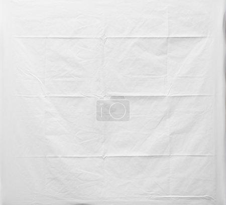 Photo pour Texture de tissu blanc froissé, fond de tissu - image libre de droit
