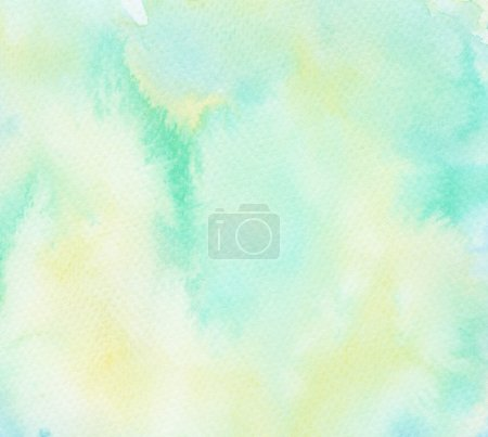 Photo for Abstract painted watercolor background on paper texture. - Royalty Free Image