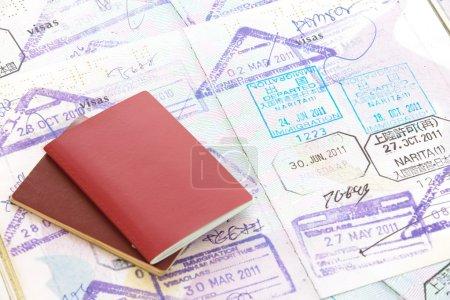 Photo pour Timbre de passeports - image libre de droit