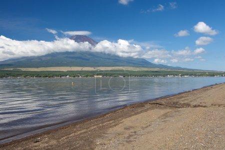 Mountain Fuji and Achi lake