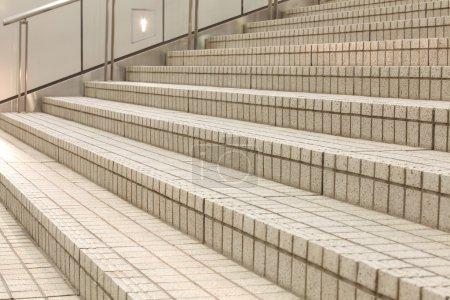 White stairs concrete