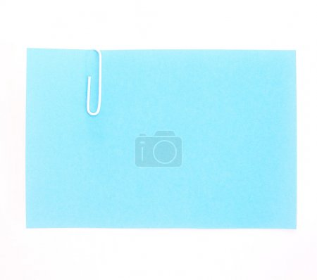 The blue paper notes on