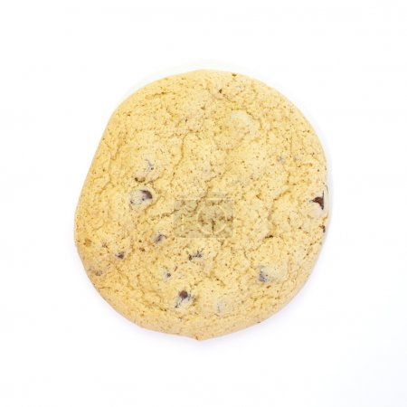 Photo for Chocolate Chip Cookie isolated on white background - Royalty Free Image