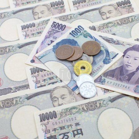 Japanese yen notes.