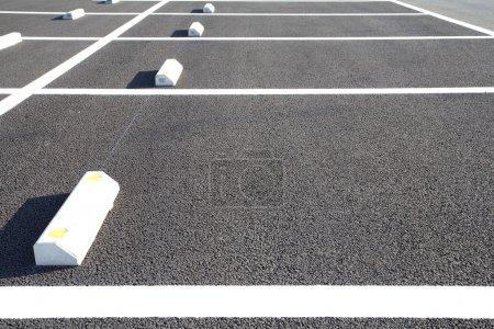 Parking lane outdoor in public park