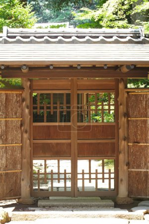 Old door house at Japanese