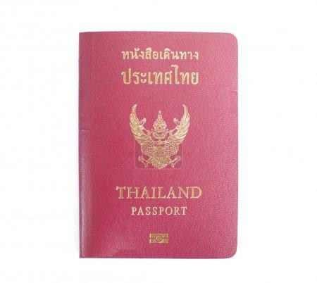 Photo pour Japon Passeport ordinaire.Gros plan sur fond blanc - image libre de droit