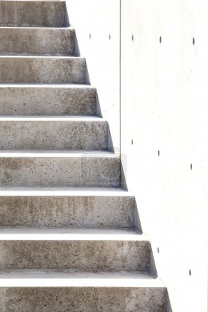 Photo for Outdoor old Grey stairs concrete.Background - Royalty Free Image