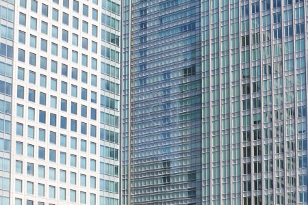 Photo for Perfect blue glass high - rise corporate building - Royalty Free Image