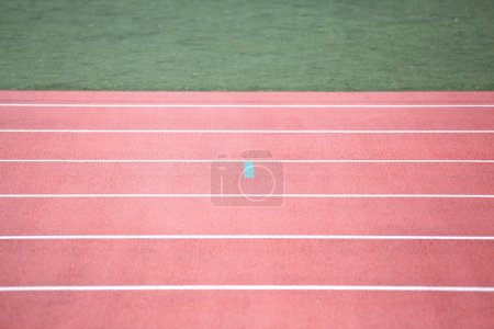 Photo for Big red Running track - Royalty Free Image