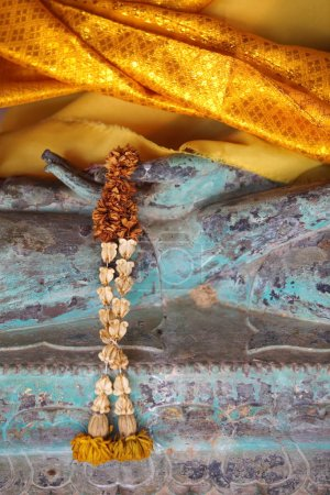 Detail of ancient Buddha statue