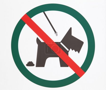 "Sign board ""no dogs"""