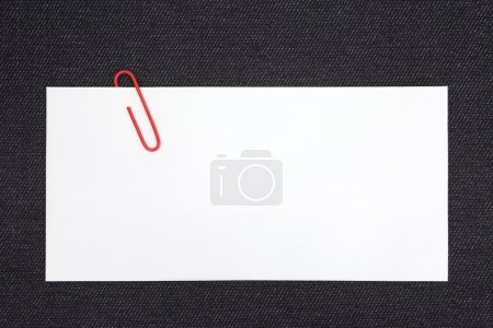 Note with Clip on wood