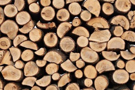 Photo pour Pile de bois haché . - image libre de droit