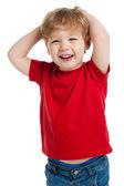 Aranyos fiú nevetve