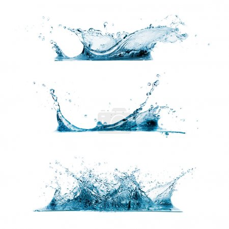 Photo for Set of three water splashes - Royalty Free Image