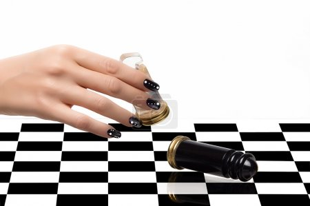 Nail Art. Manicure and Chess