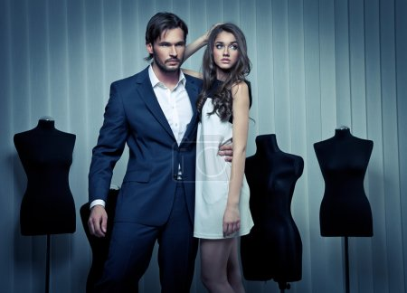 Fashion style photo of an attractive young couple