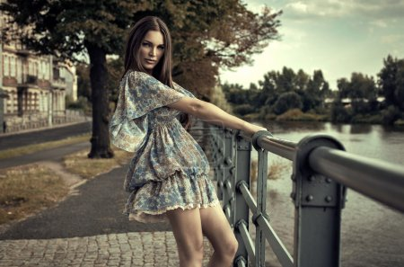 Photo for Fashion brunette woman - Royalty Free Image