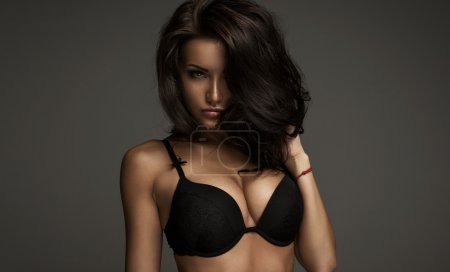 Photo for Fashion model with amazing eyes in bra - Royalty Free Image