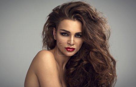 Photo pour Mode portrait, de la beauté féminine - image libre de droit