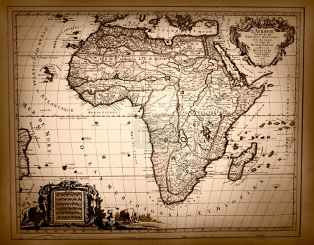 Vintage Map of Africa