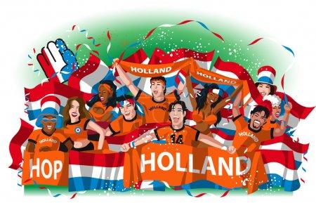 Netherlands Soccer fans cheering