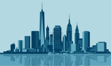 Photo for Vectori illustration of the City Of New York USA - Royalty Free Image