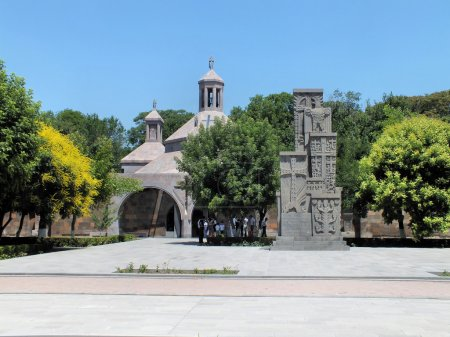 Armenian Genocide memorial in front of Saint Vartan Baptistery, Etchmiadzin