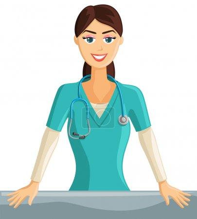 Illustration for Smiling Nurse - Royalty Free Image