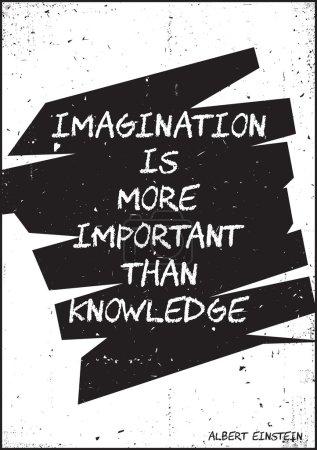 Illustration pour Illustration typographique à motivation vintage avec effets de grunge - image libre de droit
