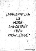 Poster Imagination is more important than knowledge Albert Ein