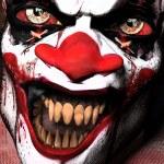 Scarier Clown 2 - Closeup: A scarier clown with sh...