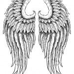 Hand drawn angel wings...