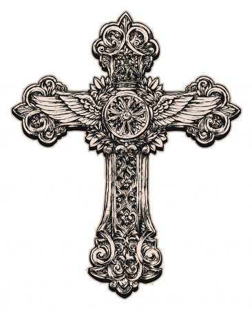 Detailed cross illustration...