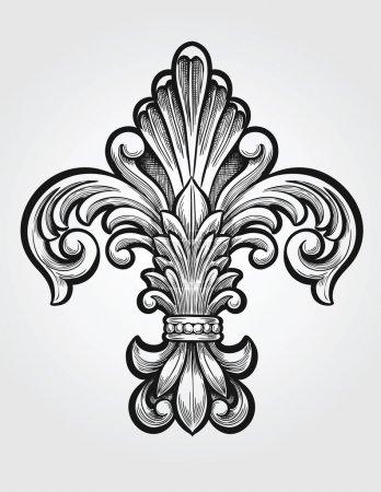 Elegant Fleur de Lis Vector