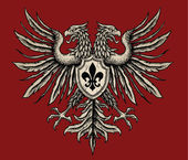Hand Drawn Heraldic Eagle