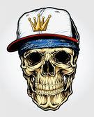 Skull with Bandanna and Cap Skull with Bandanna and Cap
