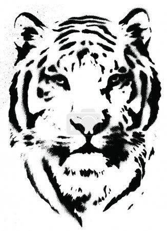 Illustration pour Tigre vecteur vectoriel de pochoir Tigre au pochoir - image libre de droit
