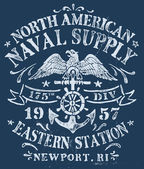 Vintage Nautical Design for Apparel