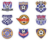 Football Soccer Badges Patches and Emblem Vector Set
